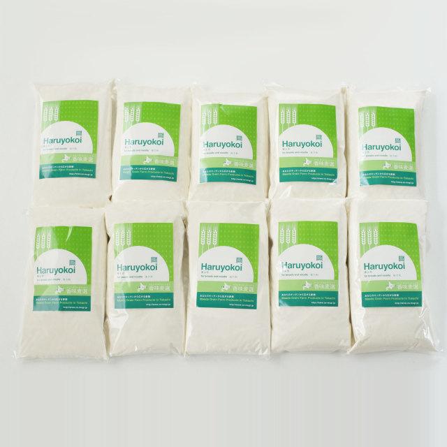【送料込】【前田農産の十勝・ほんべつ町産100%小麦粉】春よ恋1KG 10袋セット