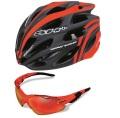 SH+ エスエイチプラス SHABLI S-LINE ヘルメット & RG5000 サングラス セット 「オレンジ」