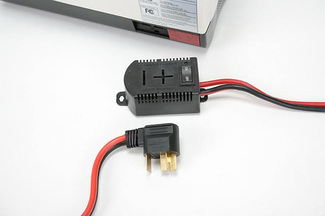 レンジ用+-コンセントキット コンセントに差込む要領でDC電源でWAVEBOXが使えます