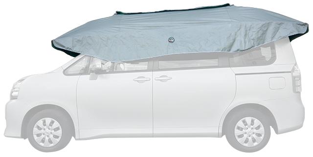 炎天下の車内温度の上昇を防ぐ 車の日傘 パラクール