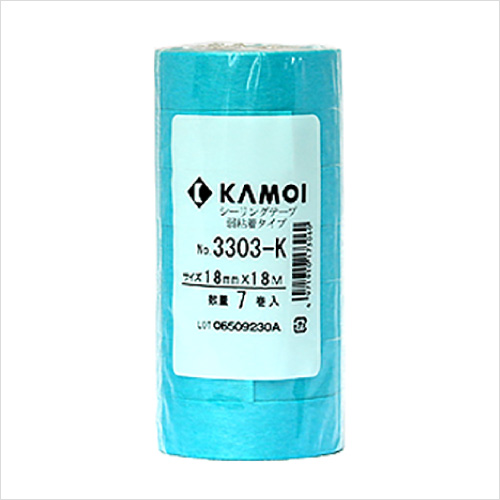 布用絵の具かけるくん!での制作補助アイテムとして / 弱粘着マスキングテープ(幅18mm×長さ18m×7巻)