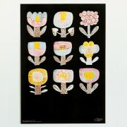 鹿児島 睦/ZUAN & ZOKEI/図案ポスター(B3)/9 FLOWERS(in the dark)