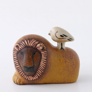 Lisa Larson/リサ・ラーソン/ライオンと鳥 LION WITH BIRD