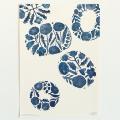 鹿児島 睦/図案ポスター(B3)/青い皿
