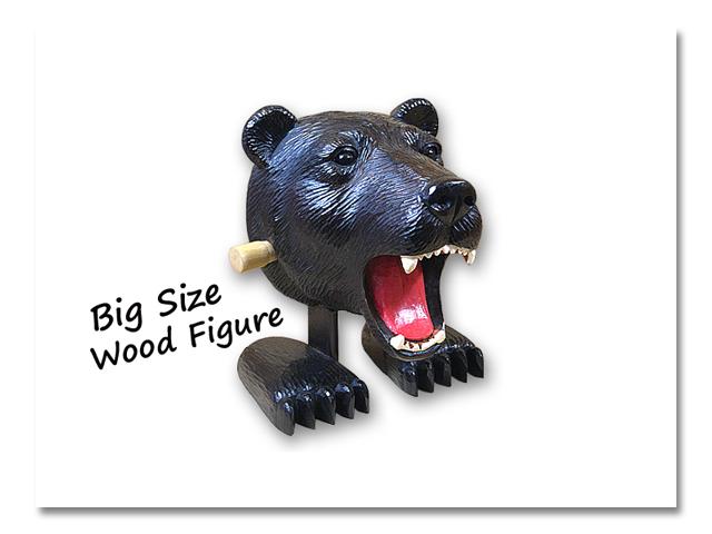 木彫り頭トコトコ熊出没 『WebShop限定販売』