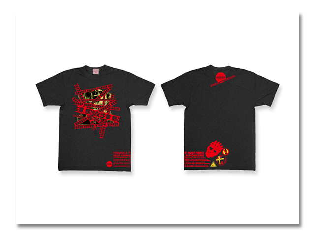 Tシャツ 熊出没 2004 黒