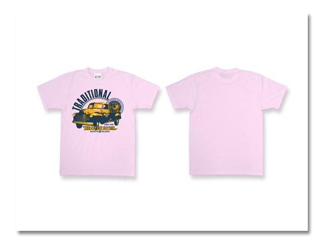 熊出没 CAR Tシャツ ライトピンク