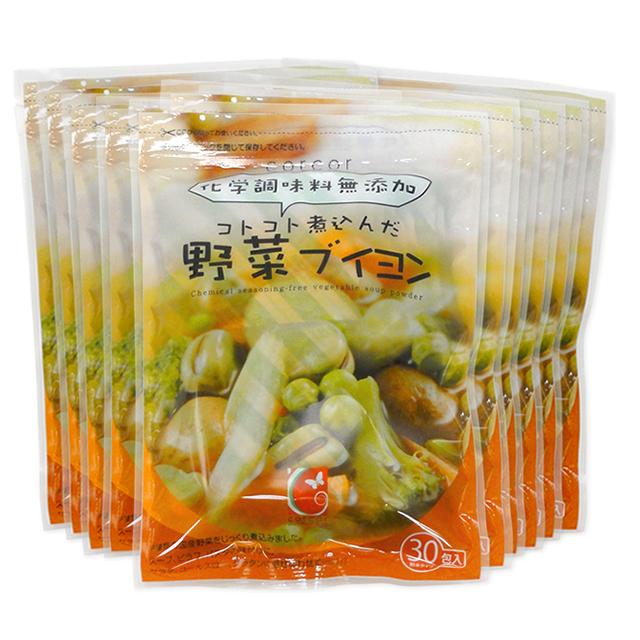 [化学調味料無添加]野菜ブイヨン 10パック 30包入×10