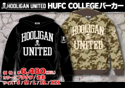 HOOLIGAN UNITED「HUFC COLLEGE」パーカー