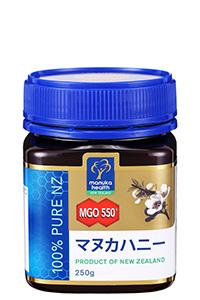 【MGO最高レベル ※マヌカヘルスニュージーランド社商品】 マヌカハニー MGO550+ 250g
