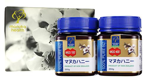 【ギフトボックス無料】【送料無料】マヌカハニーMGO100+250gと400+250gのギフトセット
