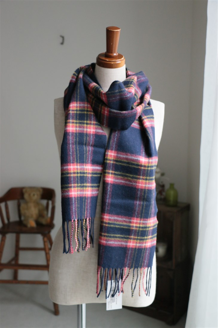 WD00034 JOHNSTONS ROYAL HEATHER LAMBSWOOL MUFFLER S 2色