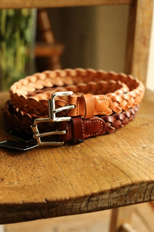 SS111 Anglo 4play Braided Belt 2色