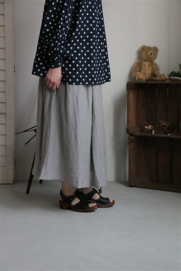 G171 Gauze コットンリネンリバーシブルスカート 3色