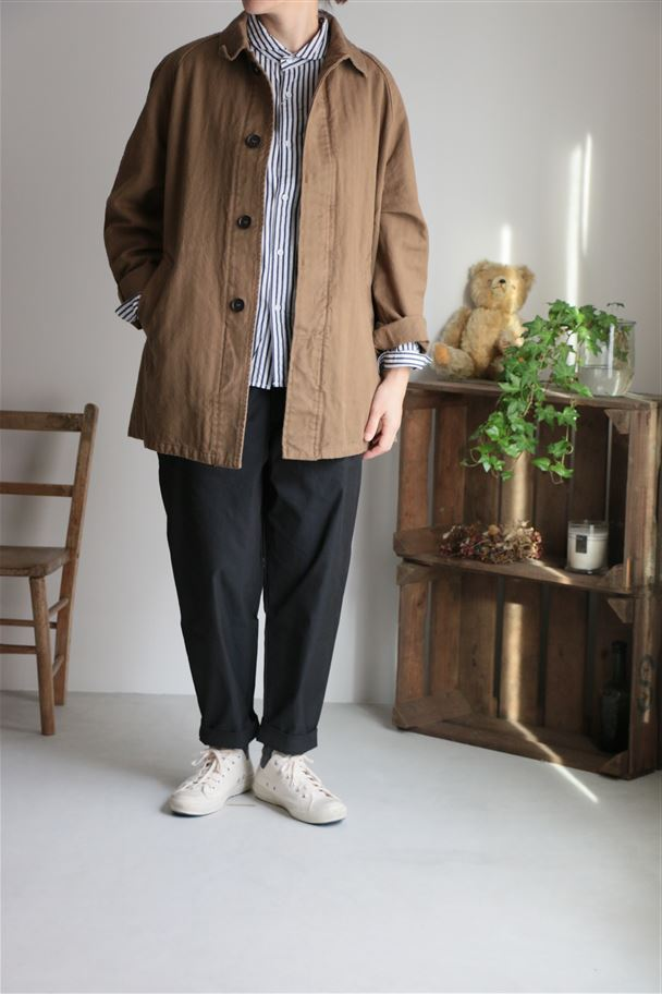 NHT1561 HARROW TOWN STORES COTTON COVER COAT 2色