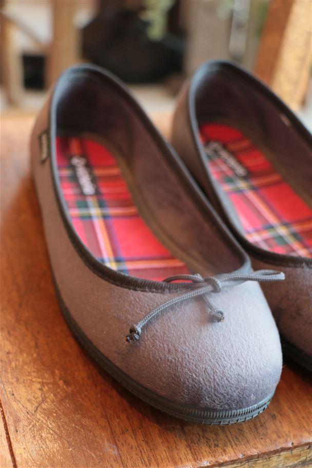 AW187 VICTORIA Ballerina Velvet Shoes Adult 2色