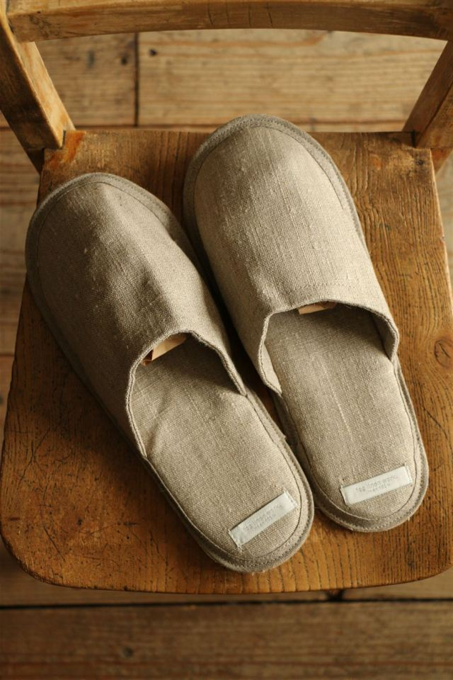 LHS108 fog linen work LINEN SLIPPERS 3色