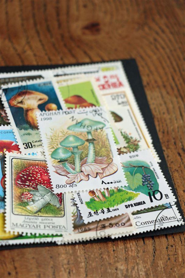 Z04 zakka mushroom stamps 25p