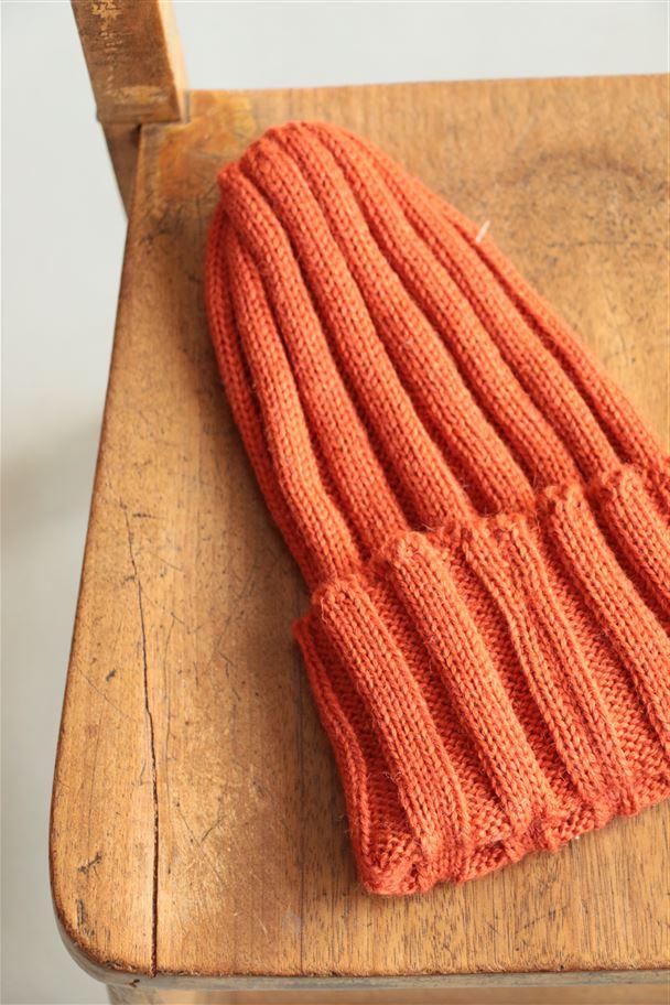 <SALE>HG050 HIGHLAND2000 wool rib Watchcap orange