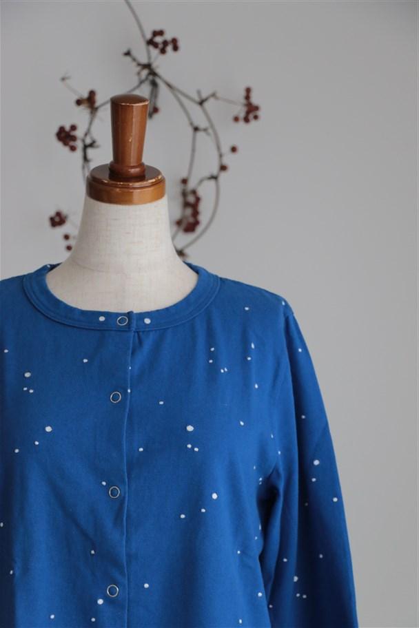 <SALE>15T203 TINA and SUSIE 星屑刺繍天竺カーディガン ブルー