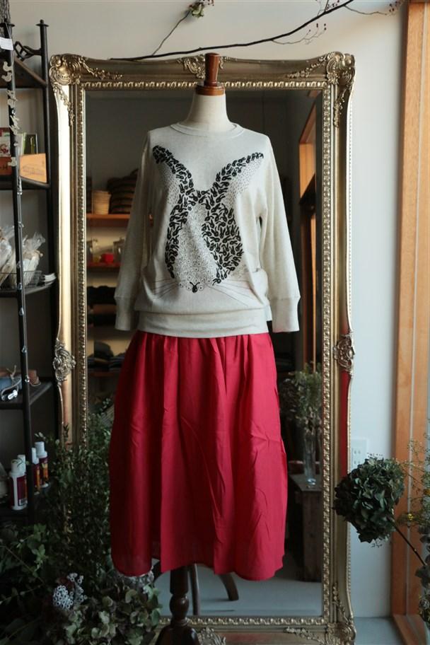 G151 Gauze コットンギャザースカート 2色