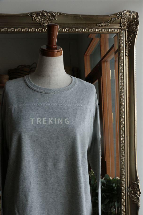 <SALE>63C-17 快晴堂 Girl's 山とski 長袖Tシャツ A.TREKING 2色