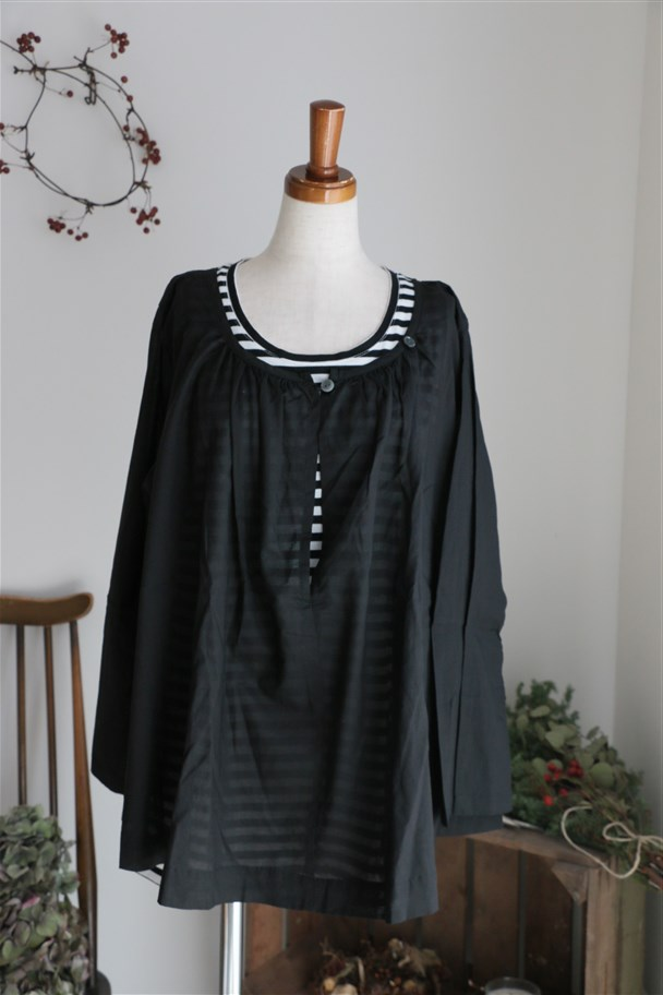 <SALE>SD52SS423 STAMP AND DIARY Smock Blouse 2色