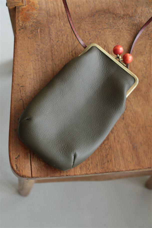 <SALE>7508 pot purri curve frame がまぐちポーチ 2色
