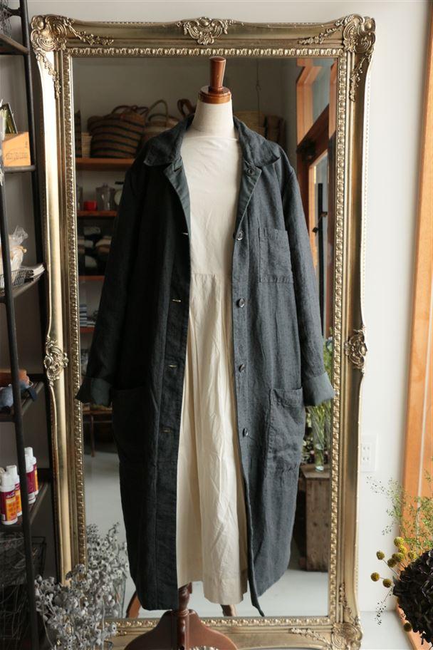 134098 vlas blomme 高密度ツイル/シャドー小花プリント 89.charcoal