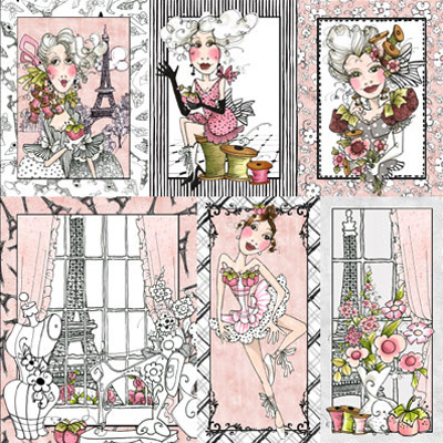 【Loralie Designs】- Sew Paree Panel - 60x110cm (ULH-057)