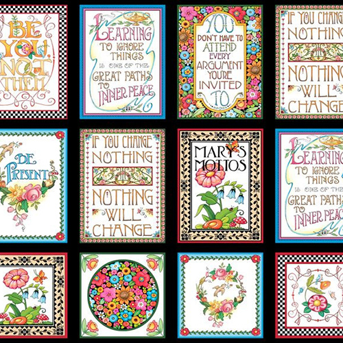 【Mary Engelbreit】- Mottos To Live By Panel - 60x110cm (UME-027)