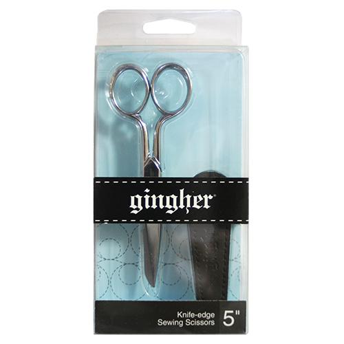 【GINGHER / ギンガー】 5インチ「ナイフエッジ・クロームフィニッシュタイプ・ケース付き」/ G5 (NOT-126)