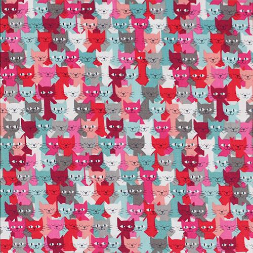 【猫柄プリント】50x55cm (UCT-198)