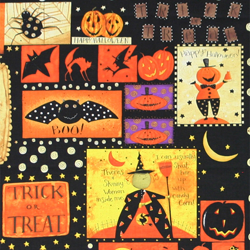 【USA】Halloween パネル柄 60x110cm (UHW-032)