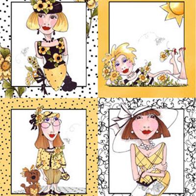 【Loralie Designs】- Bee Happy! Panel - 60x110cm (ULH-027)