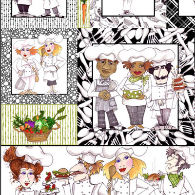 【Loralie Designs】- What's Cookin'? Panel - 60x110cm (ULH-035)