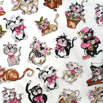 【Loralie Designs】- Tossed Fancy Cats - 50x55cm (ULH-059) カラーバリエーション