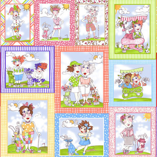 【Loralie Designs】- You Golf Girl! Panel - 60x110cm (ULH-069)
