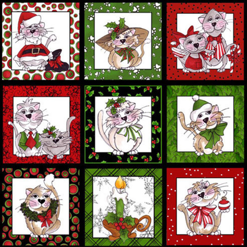 【Loralie Designs】- Kitty Kitty Christmas Panel - 60x110cm (ULH-078)