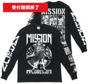 【 京都大作戦10周年 】ガイコツ舞妓ロングTシャツ(1月下旬発送予定)