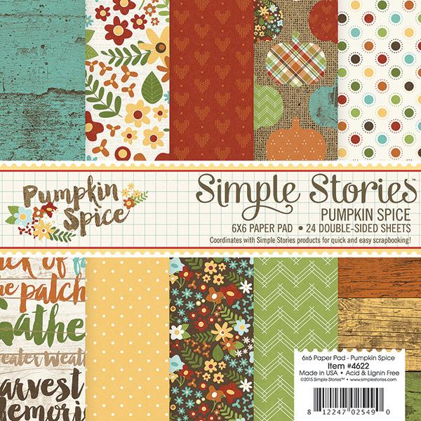 ★在庫限りで販売終了★【シンプルストーリーズ/Simple Stories】【Pumpkin Spice】6インチペーパーパッド