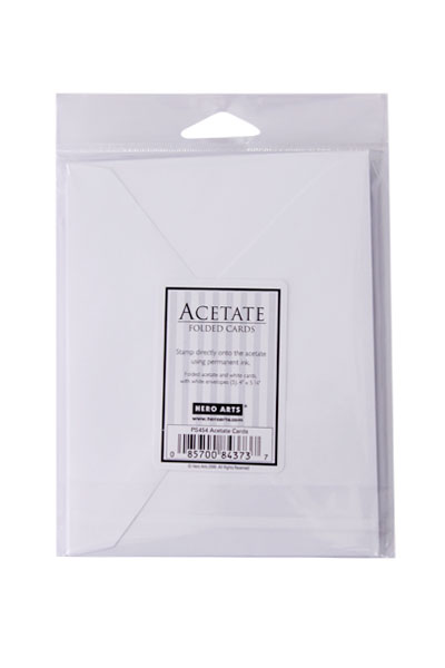 【ヒーローアーツ/Hero Arts】ペーパー - ACETATE 透明カードセット(5.25 x 4.25in)