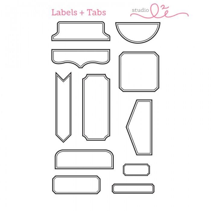 【スタジオ L2E/Studio L2E】クリアスタンプ-Labels & Tabs