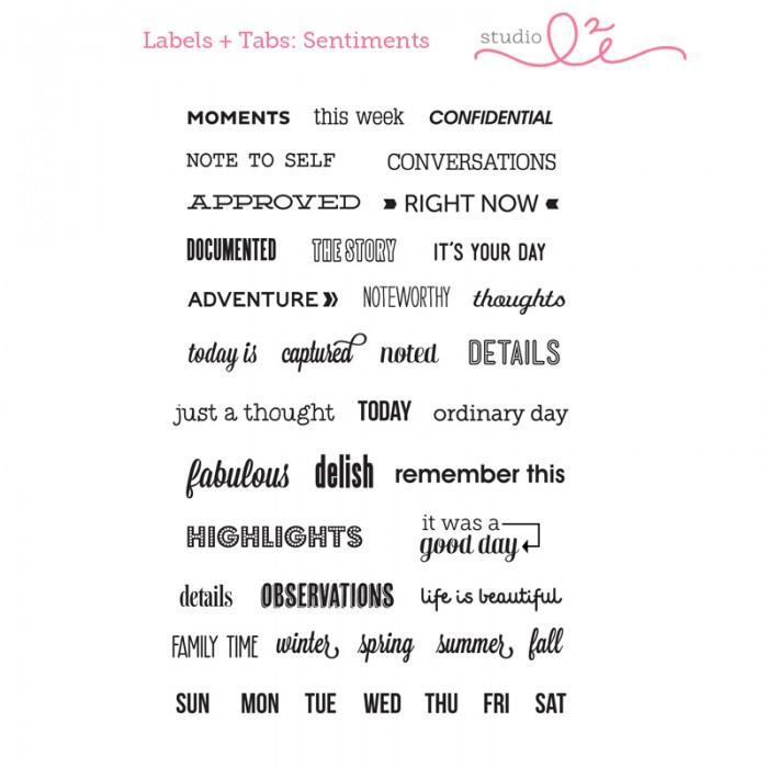 【スタジオ L2E/Studio L2E】クリアスタンプ-Labels & Tabs-Sentiments