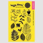 【ワッフルフラワー/waffle flower】クリアスタンプ - Leafy