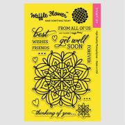 【ワッフルフラワー/waffle flower】クリアスタンプ - Lacy Flower