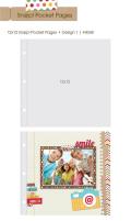 【シンプルストーリーズ/Simple Stories】【Sn@p!】12インチ-ポケットページ-Design1-10枚