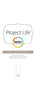 プロジェクトライフ アルバムポケットページ