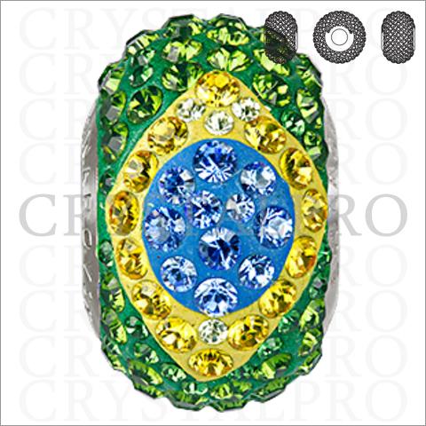 スワロフスキー ビーチャーム 181844 ブラジル国旗