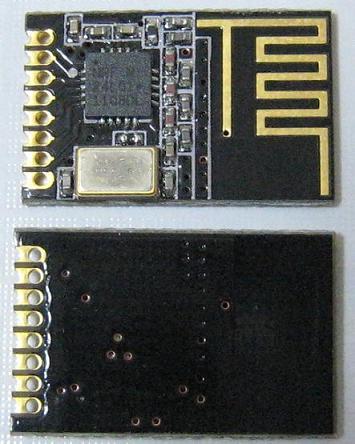 微弱無線送受信モジュールnRF24L01(2.4GHz、SMT)